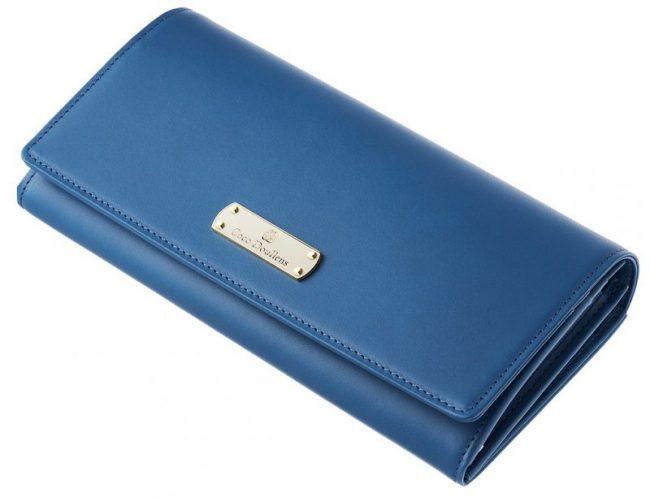 青色のレディース財布『カルメリーナロザリア』